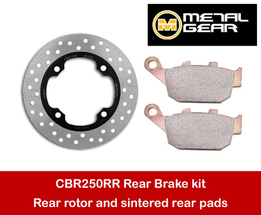 MetalGear rear brake rotor and sintered pads package MC22 MC41 20-035-set