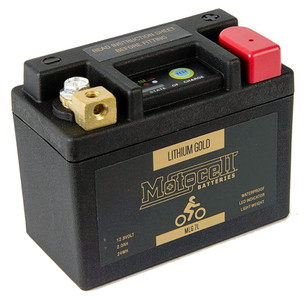 Motocell Lithium Gold LiFePO4 Battery 12.8 Volt Series - MLG7L 24WH