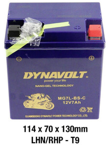Dynavolt Gel battery + OEM Regulator + Connector