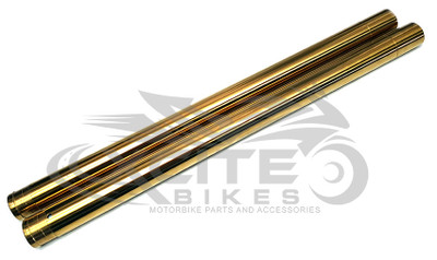 Fork tubes / pipes Gold CBR250RR MC22, pair FT101GD