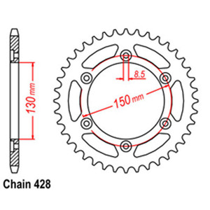 RK 52T rear sprockets 32-KY1-52