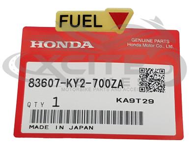 Genuine Honda Fuel marker decal 83607-KY2-700ZA