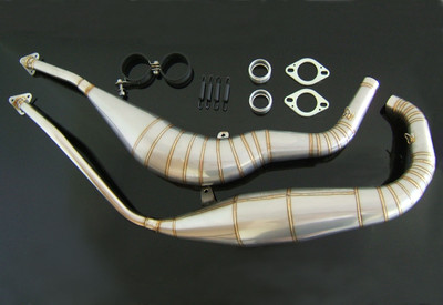 Tyga Performance Exhaust Chamber, Stainless Steel, with 2 x shorty silencers RGV250 VJ22 EXCS-0010