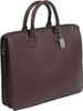 Claire Chase Sarita Briefcase Leather Laptop / Tablet Tote Cafe