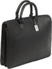 Claire Chase Sarita Briefcase Leather Laptop / Tablet Tote Black
