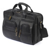Claire Chase Executive Computer Leather Briefcase 151E Black