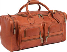 Claire Chase Executive Duffel Bag Saddle