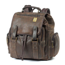Claire Chase Sierra Leather Backpack Distressed Brown