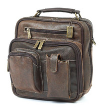 Claire Chase Jumbo Man Bag Distressed Brown