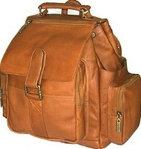 David King Top Handle Leather Backpack 330