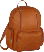 David King Leather Laptop Backpack