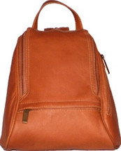 David King Rectangular Mid Size Leather Backpack