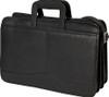 Edmond Leather Drop Handle Triple Section Portfolio 245 Black