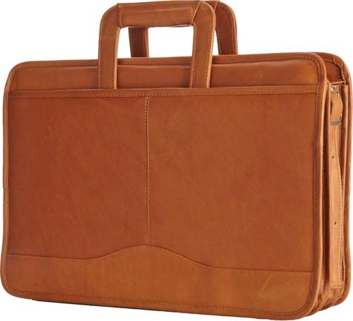 Edmond Leather Drop Handle Triple Section Portfolio 245