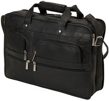 Edmond Leather Business Briefcase (Black)