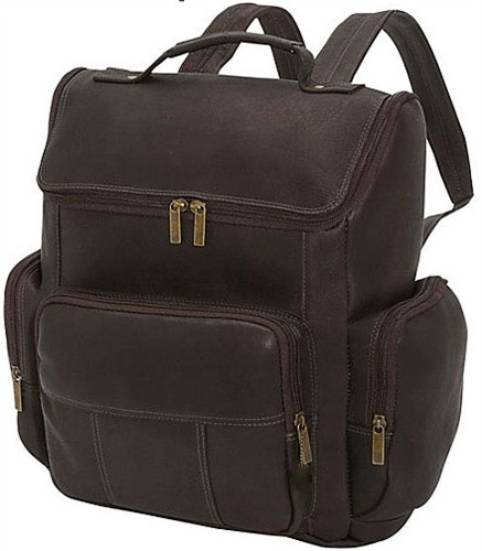 Edmond Leather Multi Zip Leather Backpack 445