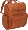 Edmond Leather Multi Zip Leather Backpack 445 Tan