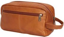 Edmond Leather Toiletry Kit (Tan)