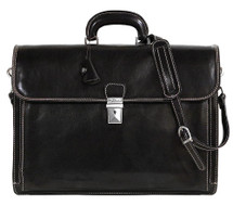 Floto Firenze Brief Italian Leather Briefcase Black