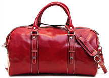 Floto Venezia Piccola Leather Duffle Bag 4513 Red