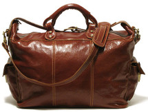 Floto Venezia Travel Tote Leather Duffle/Tote Bag 4548 Brown