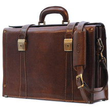 Floto Trastevere Brief Leather Briefcase