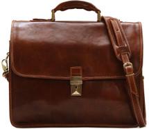 Floto Cortona Briefcase (Brown)