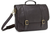 Le Donne Classic Computer Brief Leather Briefcase BR01