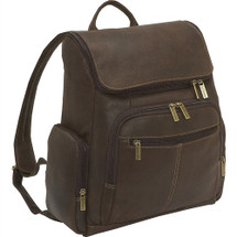 Le Donne Distressed Leather Laptop Backpack DS4020