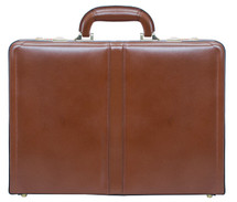 McKlein Reagan Leather Attache Case (Brown)