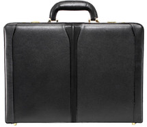 McKlein Turner Leather Attache Case (Black)