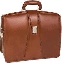 McKlein Harrison Leather Briefcase Brown