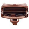 McKlein Harrison Leather Briefcase Brown Open