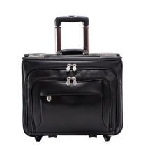 McKlein Sheridan Wheeled Leather Catalog Case 84665