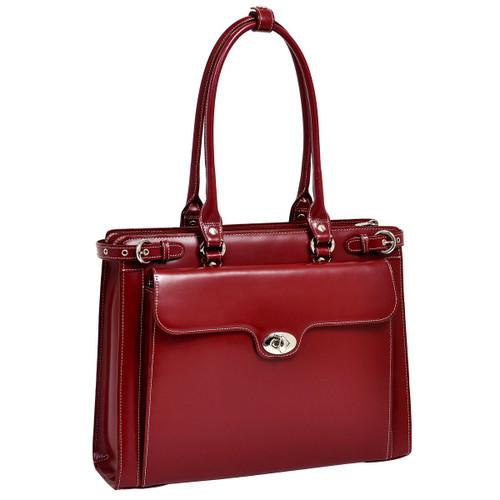 McKlein Winnetka Leather Briefcase 9483 Red