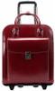 McKlein La Grange Leather Briefcase on Wheels 9649 Red