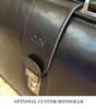 Mancini Luxurious Laptop Litigator Briefcase Black Monogram