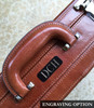 Mancini Luxurious Italian Leather Attache Case Engraved