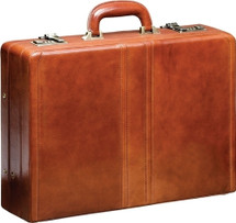Mancini Luxurious Italian Leather Attache Case (Brown)