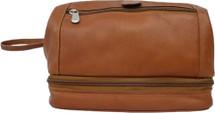Piel Leather Utility Kit With Zip Bottom Saddle
