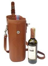 Piel Single Deluxe Wine Carrier 2355
