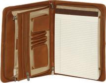 Piel Leather Three-Way Envelope Padfolio (Saddle)