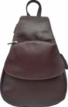 Piel Leather Flap-Over Sling Chocolate