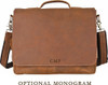 Pratt Leather Maurice Messenger Bag Vintage Mocha (Monogram)
