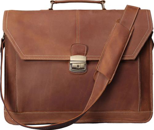 Pratt Leather Chancellor Brief (Vintage Mocha)