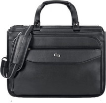 "Solo Classic 15.6"" Triple Compartment Briefcase CLS346"