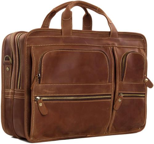 Pratt Leather Bradley Business Bag Vintage Mocha
