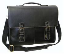 Amerileather Classical Leather Organizer Briefcase Black