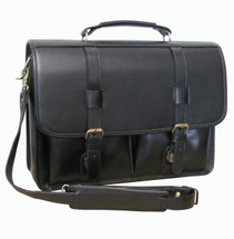 Amerileather Leather Executive Briefcase 2510 Black