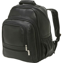 Edmond Leather Deluxe Large Leather Backpack Black